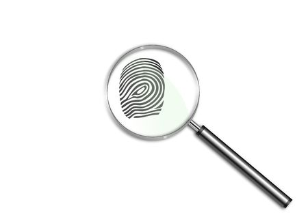 Magnifying glass over a finger print Stock Photo - 6688465