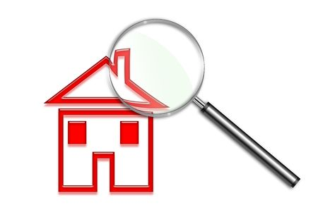 Magnifying glass over a house illustration Stock Illustration - 6688478
