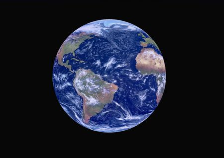 Planet Earth from Space Stock Photo