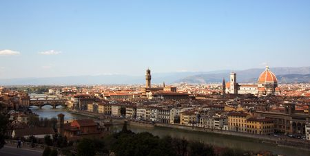 Panoramic view of Florence photo