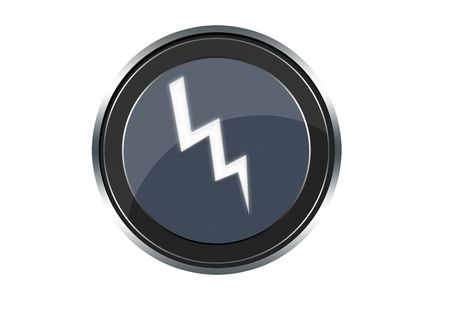 meterologist: Lightning button Stock Photo