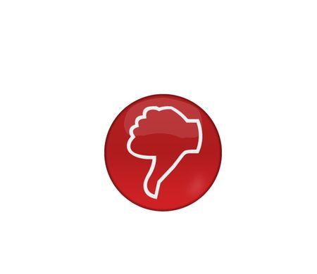Negative symbol, web button Imagens - 6974385