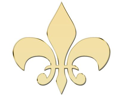 duke: Golden Fleur de Lys Stock Photo
