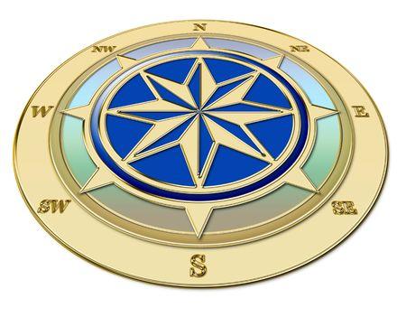 Golden compass, perspective Imagens