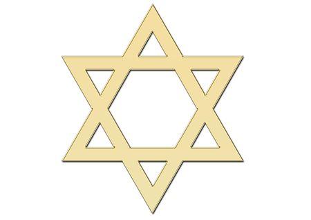 Golden David star photo