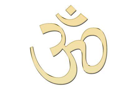 daoism: OM symbol in glod