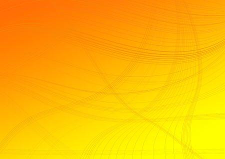 Lines on an orange degraded background Imagens - 7073404