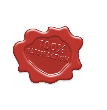 Wax seal (Satisfaction 100%)