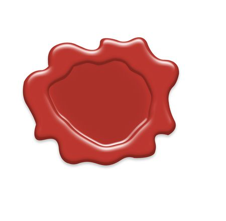 Wax seal free to put your text Imagens - 7138837