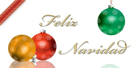 text free space: Spanish Christmas greeting card