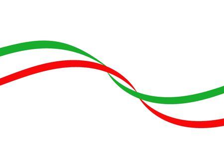 flaga włoch: wÅ'oski Flaga ilustracji