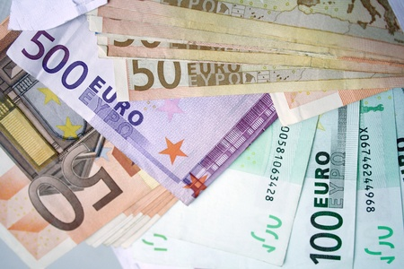 Euro notes background