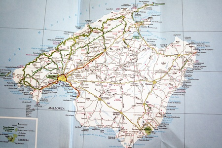 Mallorca island  Map