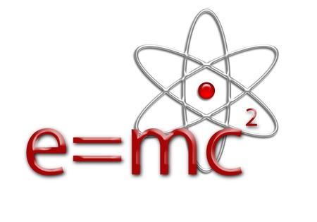 e=mc2 equation and atom Stock Photo - 9848257