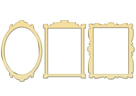 picture frames: Golden Frames