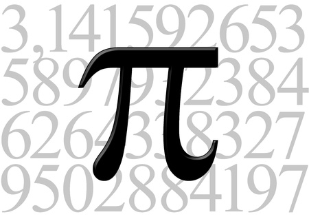 Pi letter on number value Stock Photo