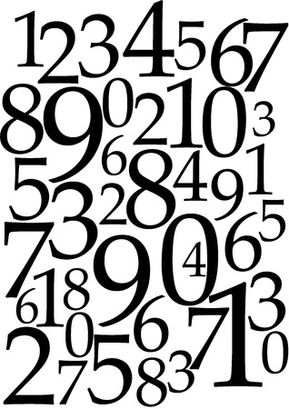numbers background Stock Photo - 9848265