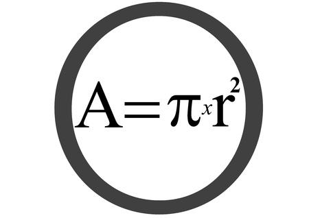 Circle area equation photo