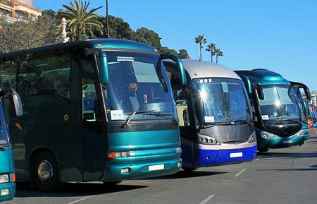 Buses parked photo