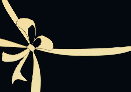 wrap wrapped: golden loop on a black background Stock Photo