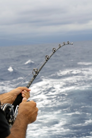 ocean fishing: Fishing in the ocean