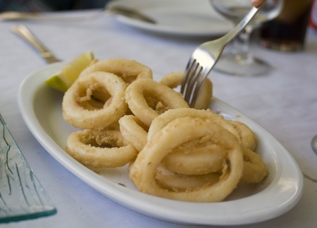 fried squid rings, (spanish cover)