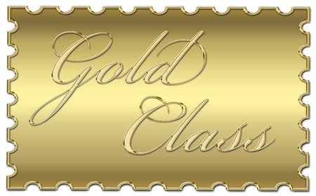 gold class stamp photo
