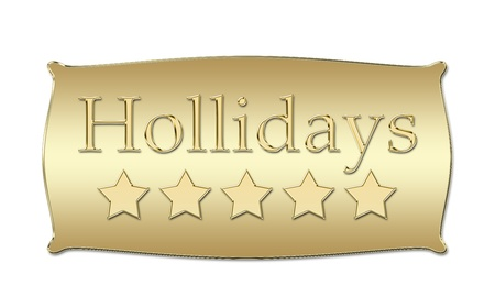 five stars Hollidays board Stock Photo - 11352769