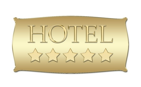 five stars Hotel board Stock Photo - 11307775