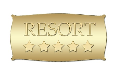 five stars Resort board Stock Photo - 11307776
