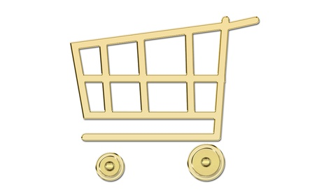 bought: golden shopping cart