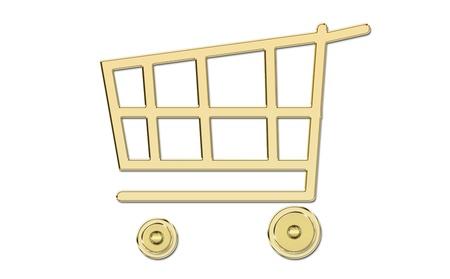 bought: golden shopping cart