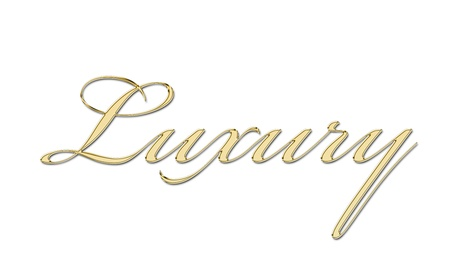 luxury written in gold letters Stock Photo - 11326469