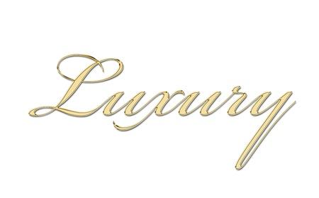 luxury written in gold letters Stock Photo - 11326469