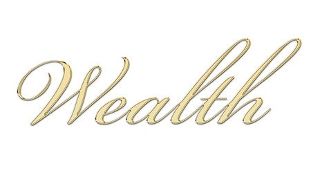 wealth written in gold letters Stock Photo - 11326473