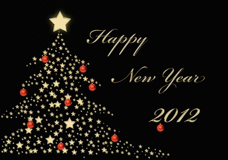 Happy new year 2012 in gold Stock Photo - 11583942