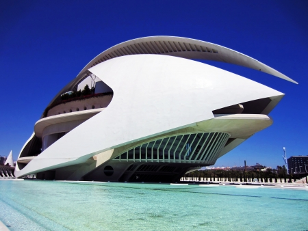 opera building in the city of arts and sciences in Valencia, Spain
