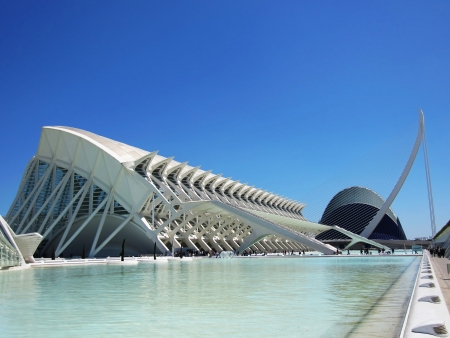 Sciences Museum in the city of arts and sciences in Valencia, Spain