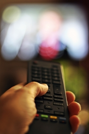 sports programme: TV remote control device