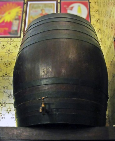 spirituous beverages: Old Barrel with faucet