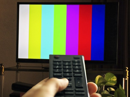 sports programme: Adjusting the TV cannels