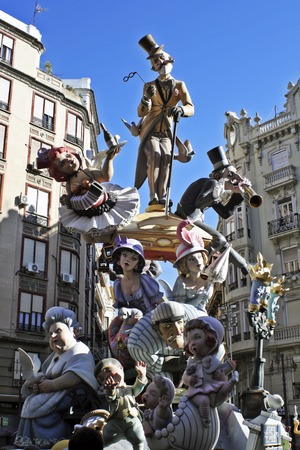 Falla of Valencia Imagens