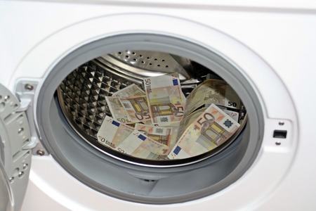 laundering: Money laundering concept