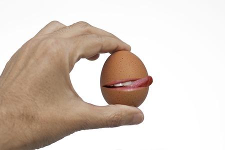 licking: licking egg