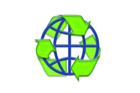 simbol: Recycling simbol Stock Photo