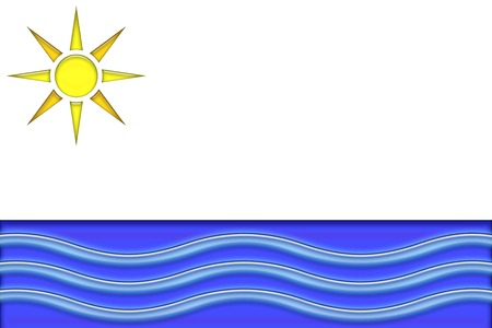 oceana: sun and ocean illustration
