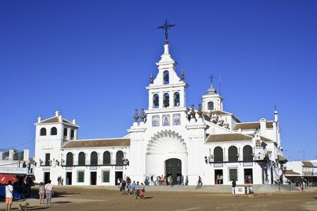 hermitage: Hermitage of El Rocio. Province of Huelva, Andalusia, Spain Editorial