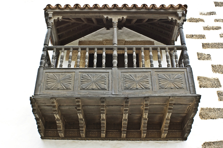 old wooden Balcony in Betancuria