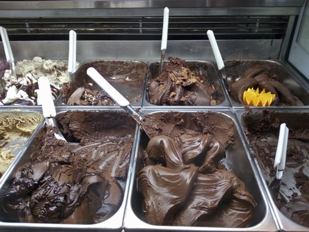 Italian chocolate ice creams
