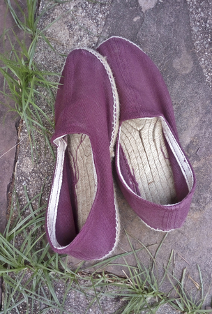 Typicall Spanish espadrilles, hand made footwear